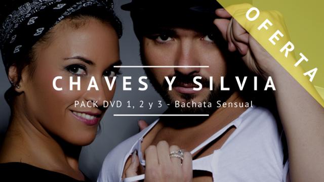 ¡OFERTA! Pack 3 DVDs de Bachata con Chaves y Silvia